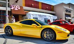 Ferrari F458 (Chad Horwedel) Tags: yellow illinois ferrari import sportscar bolingbrook 458 supercarsaturday promenademall ferrari458
