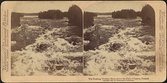 The rushing Vuoksen River above the Falls of Imatra, Finland (Boston Public Library) Tags: rapids rivers bostonpubliclibrary bpl stereographs photographicprints