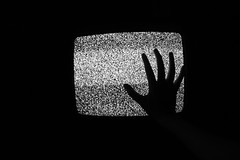 185/365 (lucyphotography) Tags: tv scary hand oldschool spooky 90s sharptv statictv