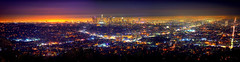L.A. California Skyline (RaulHudson1986) Tags: california city longexposure winter sky panorama beautiful skyline night canon lights la amrica colours exterior view artistic famous hollywood griffithobservatory westcoast mulholland mulhollanddrive 2014 eeuu losngeles 550d raulhudson1986