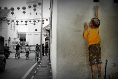 i think i found it ! (stardex) Tags: streetart art heritage wall kid mural georgetown unesco malaysia penang cannonstreet stardex