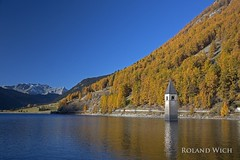 Reschensee (Rolandito.) Tags: italy italien italie sdtirol alto adige reschensee lago di resia autumn herbst fall campanile sommerso kirchturm turm