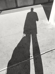 My morning commuter, shadow-selfie (williamw60640) Tags: shadow selfie commuter backpack chicago commute man me shadowselfie morning