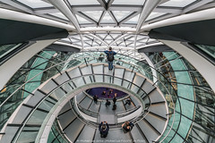 London City Hall - Open House 2016 (DSC08375) (Michael.Lee.Pics.NYC) Tags: london england unitedkingdom cityhall openhouse 2016 spiral staircase architecture glass symmetry lookingdown sony a7rm2 voigtlanderheliar15mmf45