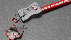 MoMA - Museum of Modern Art ( mpg) Tags: mpg2016 ppep macromondays macro closeup moma pencil pencilspenserasersandorpaperclips hmm museumofmodernart week412016 52weeksthe2016edition weekstartingfridayoctober72016 100xthe2016edition black bw blackwhite selectivecolor world100f