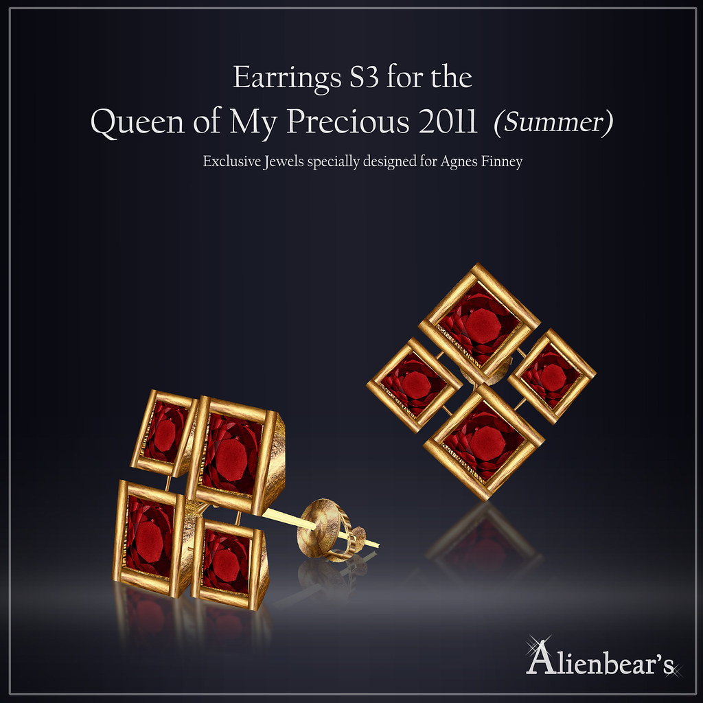 Earrings S3 for Queen of My Precious 2011 Summer