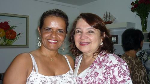 Ana Elvira Alho com a prefeita Maria do Carmo Martins Lima
