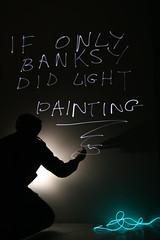 Bansky light 1 (Jamie (BJ)) Tags: light shadow painting graffiti wire long exposure banksy el
