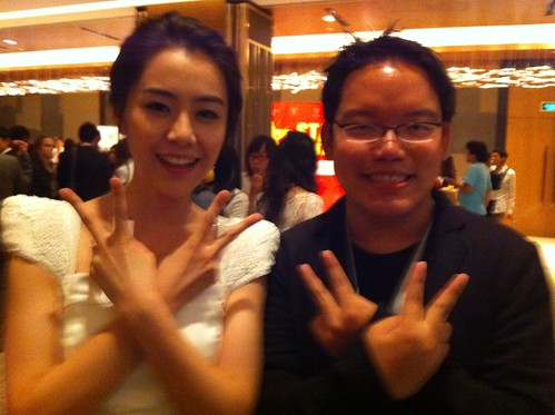 With Chinese actress  and famed model Meng Li