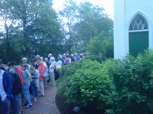 Lots of people to see the sold out Shorts Program II! #NFF2011