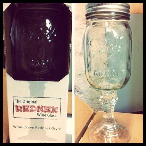 rednek wine glass