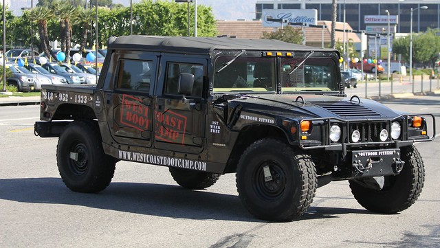 california ca street black la losangeles fitness hummer h1 westcoast spotting woodlandhills 4door bootcamptruck