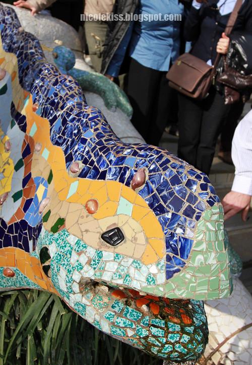 park guell mosaic dragon 2