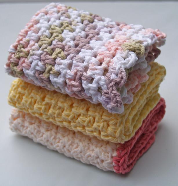 Farmhouse Kitchen Knitted Dishcloth: Trapo Para El Baño ( Enganchándome A Los Dishcloths