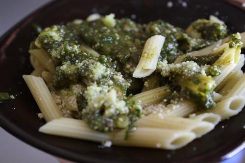 pesto with pasta