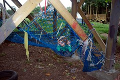 Caged animal in the playground which health and safety forgot about (Reverend Sam) Tags: playground bristol leo
