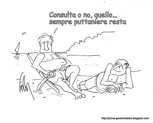 Consulta o no ... sempre puttaniere resta. by Livio Bonino