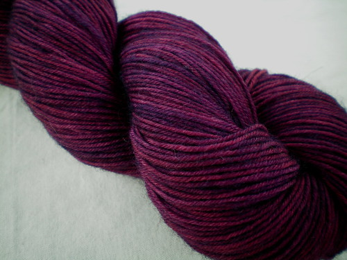 Overdyed Hand-dyed Yarns: Neat Little Rows