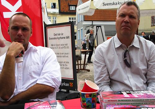 Tore Englén och Tommy Waidelich i Almedalen i samtal med Netroots