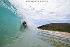 Da Gabe like one barrel (Aaron Lynton) Tags: beach canon hawaii big barrels barrel maui 7d spl bigbeach barrelling luckywelivehawaii lyntonproductions