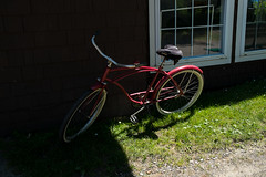 Red Bicycle (Matt0513) Tags: red lake bicycle institute institution 2014 chautauqua