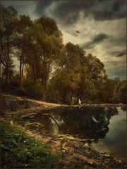 At the Holy spring. (odinvadim) Tags: art country iphoneart rural iphone iphoneography painterly iphoneonly landscape evening painterlymobileart snapseed sunset textures instapickskyart textured autumn old