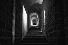 Looking for light (Rayoflightbe) Tags: normandi travel normandy mont saint michel abbey black white