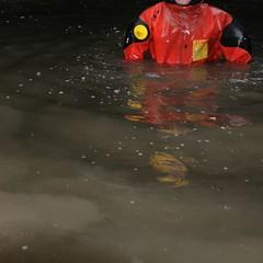 Viking-Faulteich11 (Kanalgummi) Tags: underground rubber worker exploration sewer drysuit kanalarbeiter égoutier