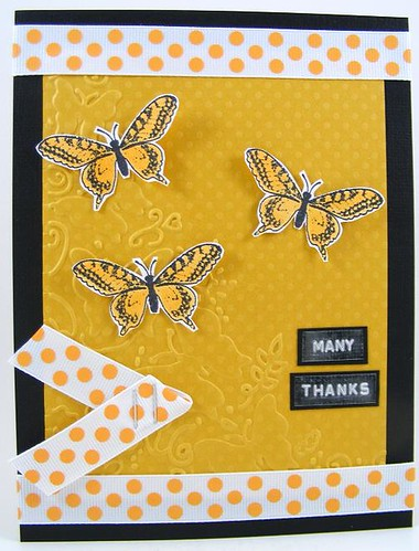 Many Thanks Butterflies Card