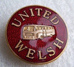 United Welsh Transport - bus company badge (1940's / 1950's) (RETRO STU) Tags: wales nationalbuscompany enamelbadge unitedwelshtransport £4141