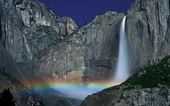 Yosemite Falls Moonbow (Matt Granz Photography) Tags: california park desktop wallpaper moon mountain motion blur nature water night stars landscape photography evening waterfall rainbow nikon long exposure falls sierra national valley yosemite bow moonbow 50mm18 d90 mattgranz