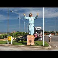 FOR CHRIST's SAKE (Elena Fedeli) Tags: track camion christianity cristo statua bucadellelettere explored stazionediservizio torrecanne cristoditorrecanne postaareadiservizio
