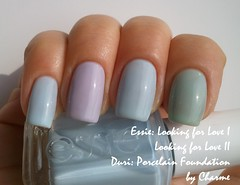 Comparison (charme_cosmo) Tags: blue light lilac jelly essie comparisons duri