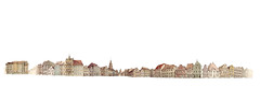 Altmarkt Panorama (Flaf) Tags: panorama colour water st pencil square market drawing 5 florian baroque cottbus barock marche zeichnungen nikolai freie altmarkt oberkirche afflerbach zeichnerei