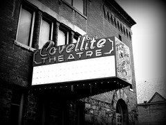 The Covellite Theatre #1 (BlackAndBlueBeauty) Tags: white black sign montana butte theatre uptown covellite