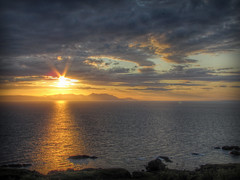 Arran Sunset (Joey Monk) Tags: sunset arran hdr ayrshire canonsx20is