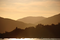 Intersection (Markro) Tags: sunset lake mountains scotland loch lochlomond milarrochybay