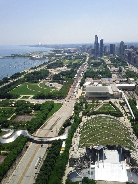 Taste of Chicago from above