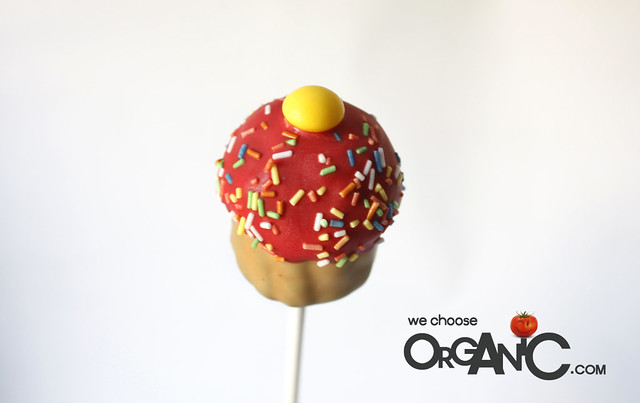 cupcake pops - valentines day, birthday, yellow red, vanilla