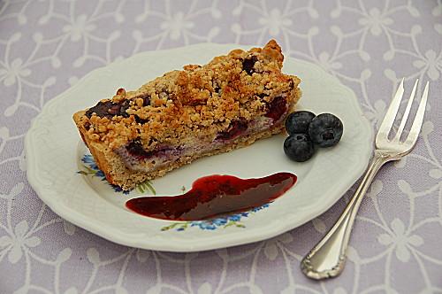 crumble tarte ai mirtilli e balsamico