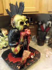 punk rock zombie 2 (Cake Rhapsody) Tags: monster cake rock foot death scary blood punk zombie chocolate finger eyeball rocker gore horror mohawk anarchy undead corpse zombies airbrush intestines fondant buttercream edibleart walkingdead royalicing barbaranngarrard cakerhapsody