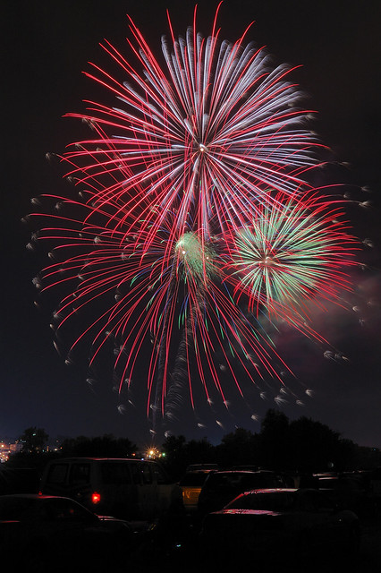 Fireworks, near Alton, Illinois, USA - 1