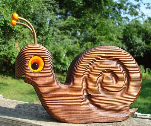 Funky Woodgrain Snail