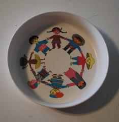 Stig Lindberg Children's Bowl (krakencrafts) Tags: kids children sweden bowl plastic itsasmallworld stiglindberg gustavsberg malamine ornamin