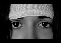 Sorrow (Scarlet.Mind) Tags: portrait bw black me face self myself sadness eyes nikon expression front bn occhi sorrow ritratto nero viso tristezza faccia dolore d60 espressione