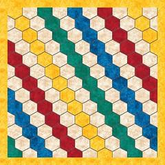 Vorschlag 5 - Regenbogen Streifen mit gelbem Rand