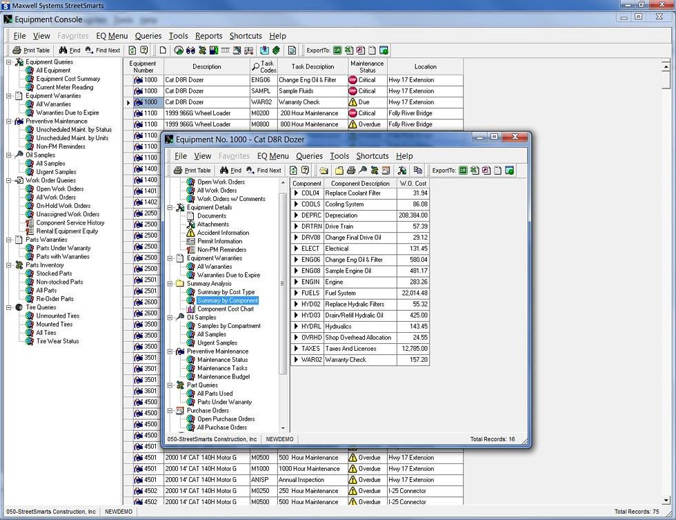 StreetSmarts - Equipment Management - Equipment Console