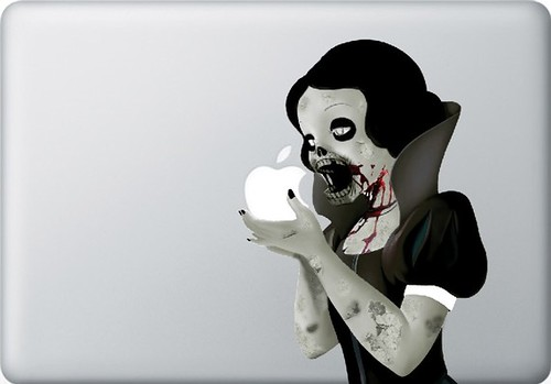 Zombie Princess Decal for 13inch MACbook - sticker - vinyl