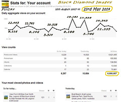 6 million Flickr views from 16th August 2007 to 23rd May 2014 (Black Diamond Images) Tags: screenshot flickr stats statistics milestone milestones 6000000 flickrstats blackdiamondimages flickrstatistics 6millionviews 6000000views 6millionhits 16thaugust2007to23rdmay2014 23rdmay2014