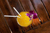 TROPICAL COCTAIL WITH STRAWS (eugenia.isakova) Tags: above travel summer vacation holiday cold flower color travelling ice beach glass up yellow fruit season table relax healthy view bright drink sweet south drinking straw lifestyle tasty fresh delicious exotic single mango tropical tropic relaxation nonalcoholic refreshment fruitful